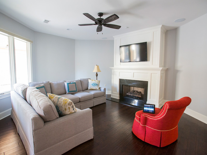 Completed sitting room.