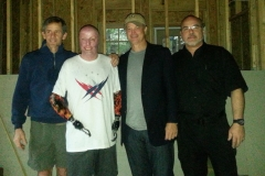 Gary Sinise with our founder, Joel Berrettini and Smart Home recipient, Army Ranger SFC Mike Schlitz - Fortson, GA